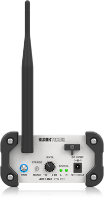 KLARK TEKNIK DW20R 2.4 GHz Wireless Stereo Receiver for High-Performance Stereo Audio Broadcasting